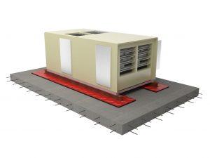 Megamat anti vibration pad under aircon image