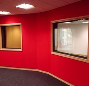 Acoustic fabric for walls and ceilings